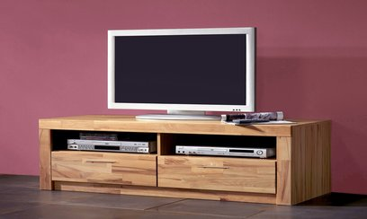 design tv lowboard massivholz top 4 neu. Black Bedroom Furniture Sets. Home Design Ideas