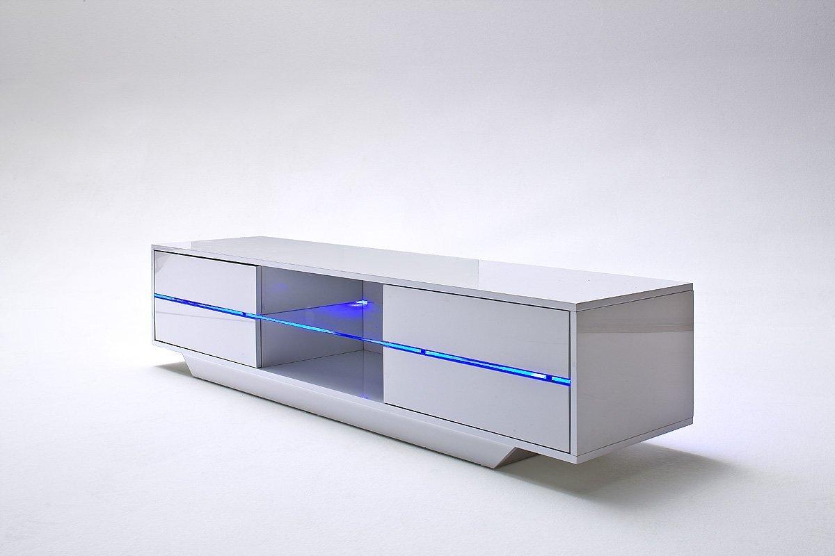 Tv lowboard hängend led  ▻ TV Lowboard weiß - Eck Fernsehschrank weiß Modell