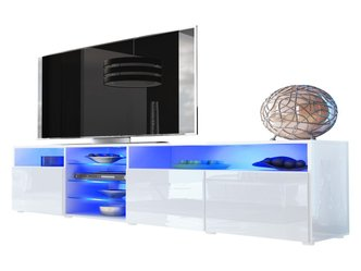 eck tv schrank in wei hochglanz neu. Black Bedroom Furniture Sets. Home Design Ideas