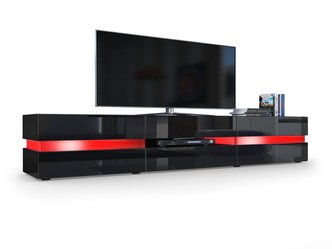 schwarzes tv lowboard tv m bel tv board f r fernseher. Black Bedroom Furniture Sets. Home Design Ideas