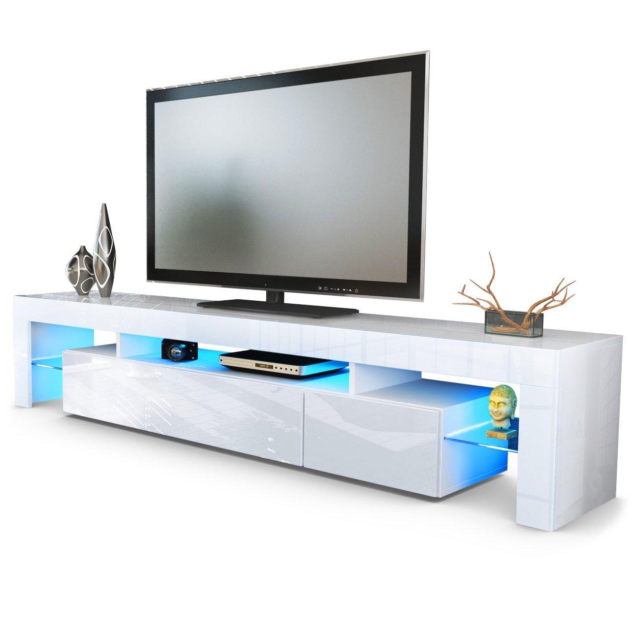 Fernsehschrank weiß  ▻Tv Lowboard weiß Hochglanz ++ Fernsehschrank kaufen