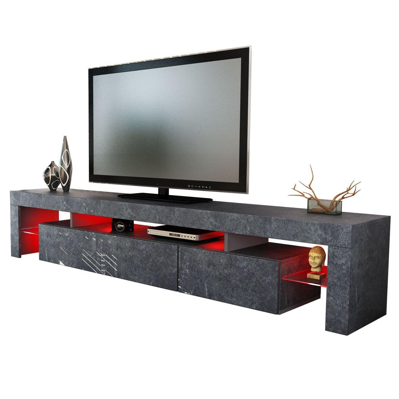 Design tv möbel weiss  ▻ Tv Lowboard Grau + Tv Lowboard Schrank für den Fernseher
