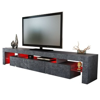 tv lowboard grau tv lowboard schrank f r den fernseher. Black Bedroom Furniture Sets. Home Design Ideas