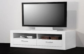 tv lowboard wei eck fernsehschrank wei modell. Black Bedroom Furniture Sets. Home Design Ideas