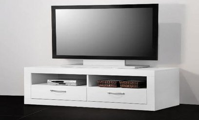 tv lowboard wei eck tv schrank neu. Black Bedroom Furniture Sets. Home Design Ideas