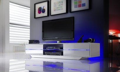 tv lowboard wei eck fernsehschrank wei modell. Black Bedroom Furniture Sets. Home Design Ideas